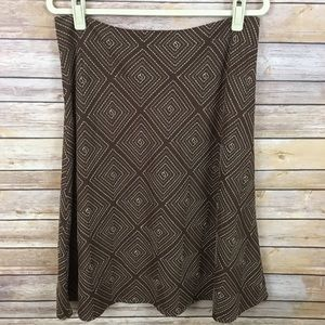 Access Brown A-Line Skirt With Embroidered Design